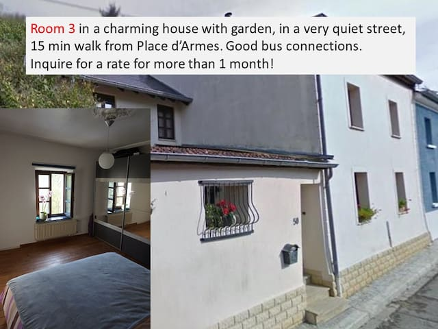 house: quiet, garden, charming, nearby center, rm3 - Luxembourg - Casa
