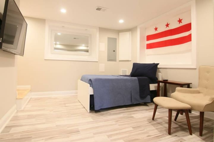 Modern suite near nightlife with private parking!
