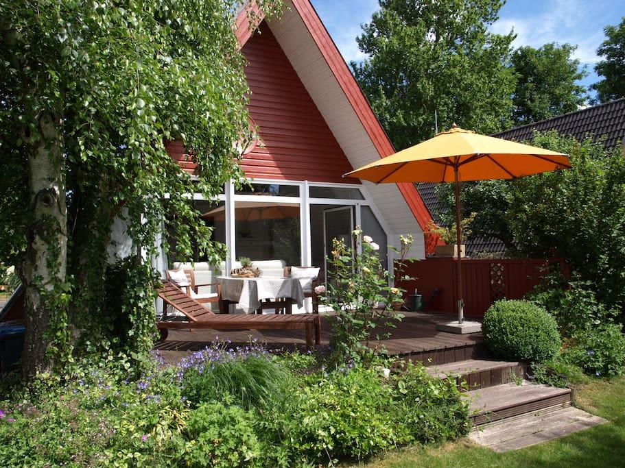 ferienhaus am wittensee nur 10 km von der ostsee h uschen zur miete in b nsdorf schleswig. Black Bedroom Furniture Sets. Home Design Ideas