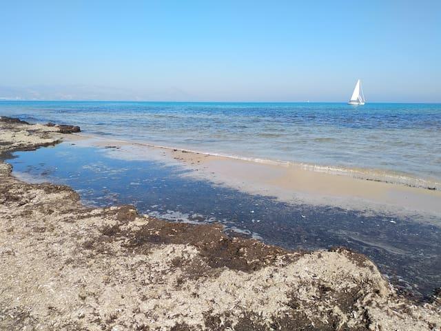 Playa de San Juan en febrero.