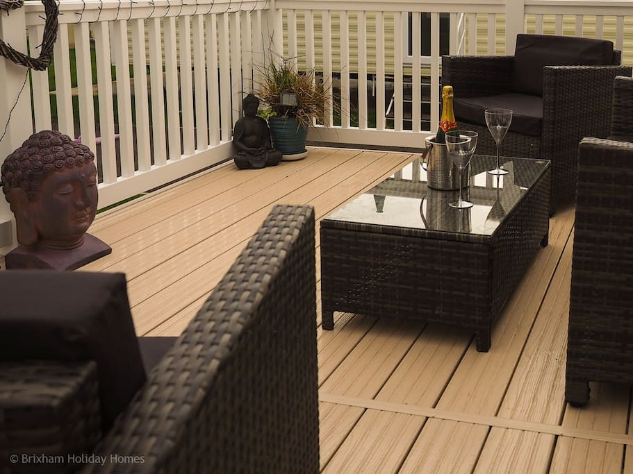 Relax on the decking outside