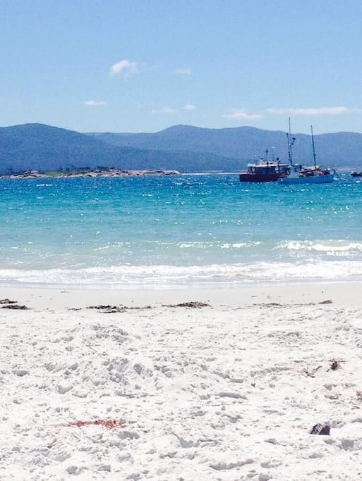 Waubs Bay only a 3 minute walk. Beautiful beaches, crystal clear water.