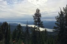 View of Priest Lake from mountain hike.
