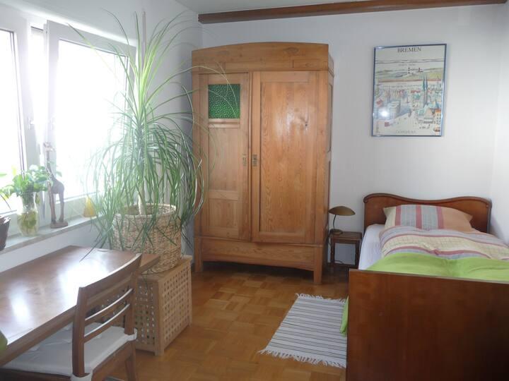 Zimmer in Wohnung mit großem Garten in Rintheim