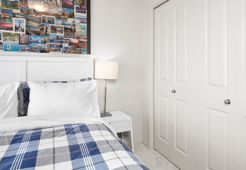 Guest bedroom includes a nice sized closet to store all of your valuables during your stay.