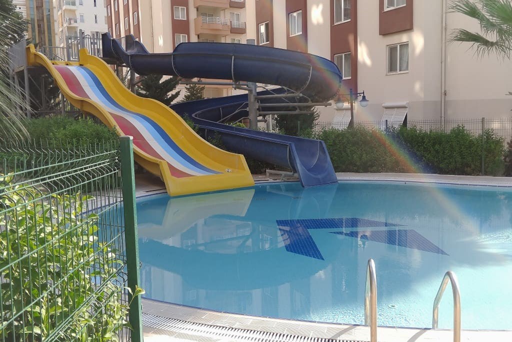 2 Big Swimming Pools Aquapark Tennis 5 Clean Apartments For Rent In Antalya Antalya Turkey