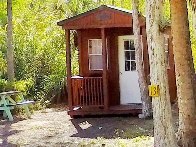 Tiny 1 person Everglades Adventure swamp cabin