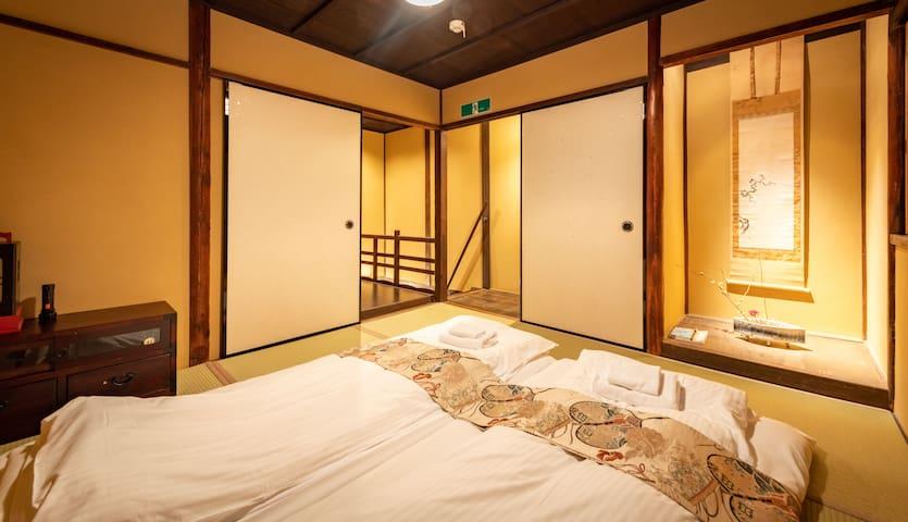 二层和式卧室 Second floor Bedroom with tatami futon