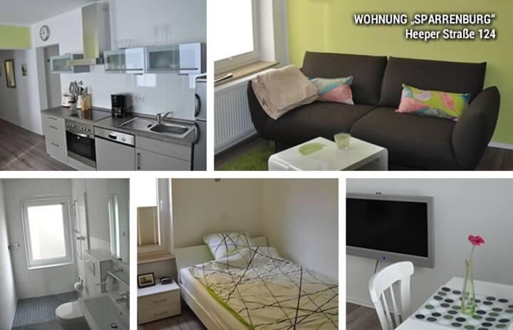 """Moderne 2,5-Zi-Wohnung """"Sparrenburg"""""""