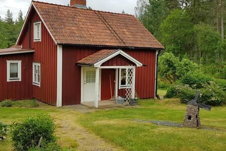 Lantlig skogsidyll nära Vimmerby,familjevänligt(2)