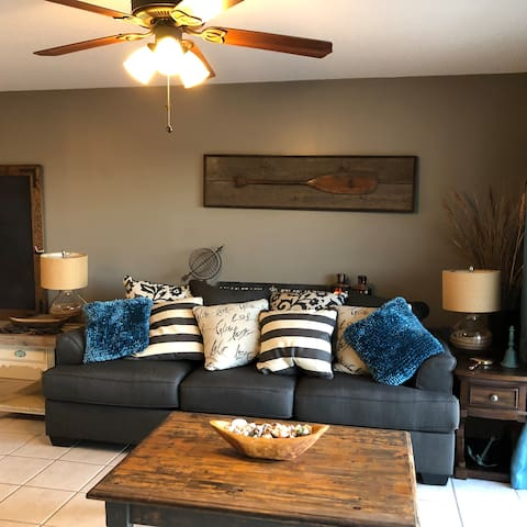 Renovated Den with new Ashley Sleeper Sofa