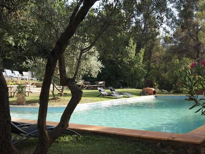 Maison campagne aixoise, grande piscine, jacuzzi