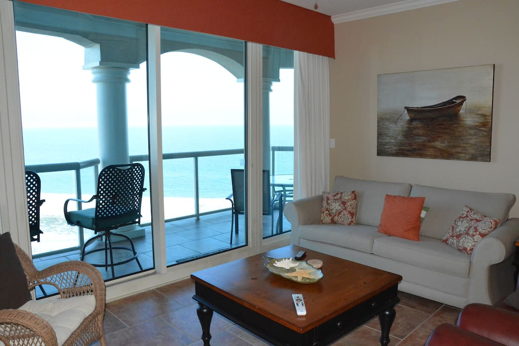 Living room looking out to Gulf of Mexico