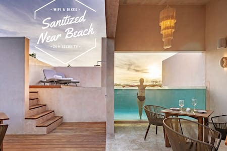 1BR★Apt near Beach★Aldea Zama★Rooftop Pool+Bikes★6