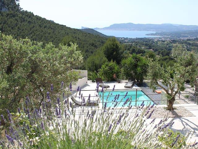 Regard-Azur Stunning panoramic view - La Cadière-d'Azur