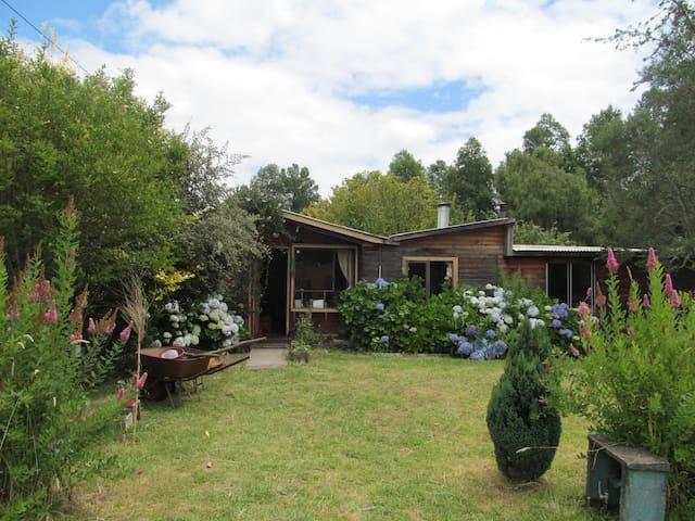 Arriendo de habitación privada en cabaña familiar - 比亞里卡(Villarrica) - 自然小屋