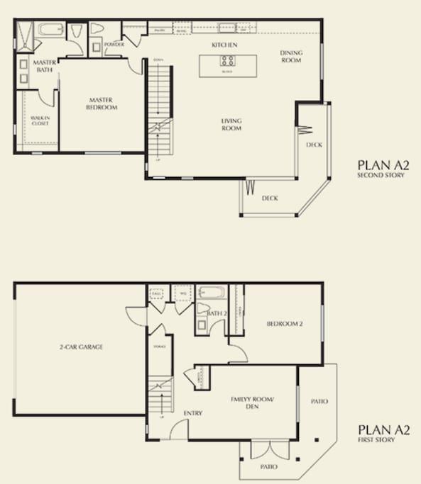 1st and 2nd floor floor plan