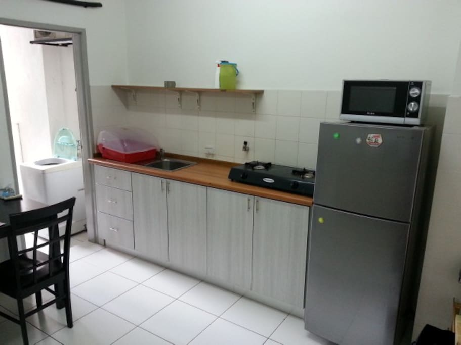kitchen and washer