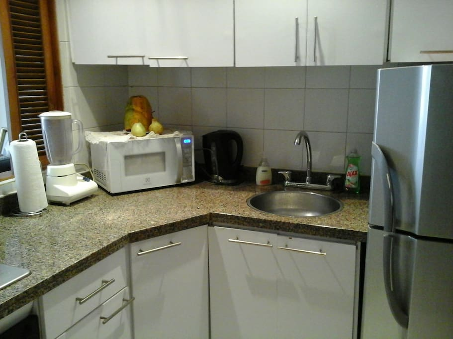complete kitchen with appliances