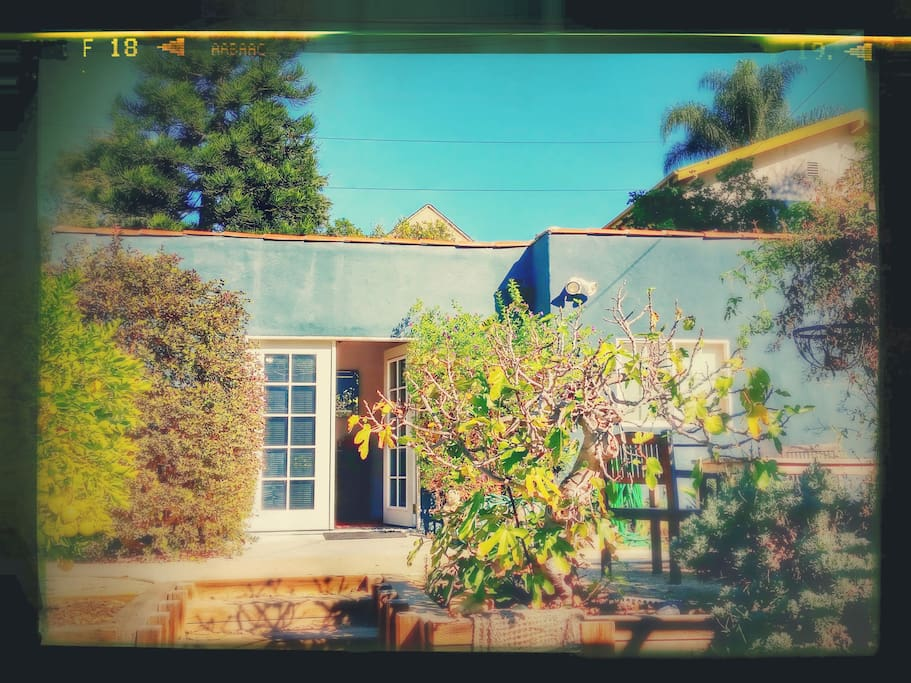 Here's the studio! Google Photo did an after effect filter for our enjoyment.