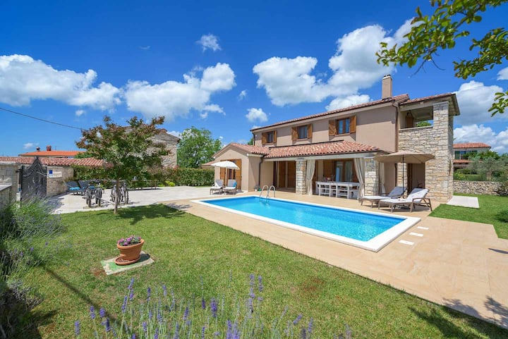 Villa Neo with swimming pool, in Central Istria