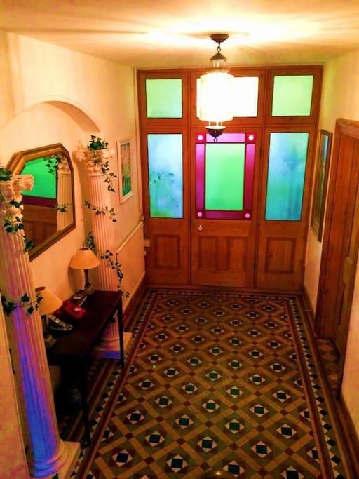 Elegant entry hall.