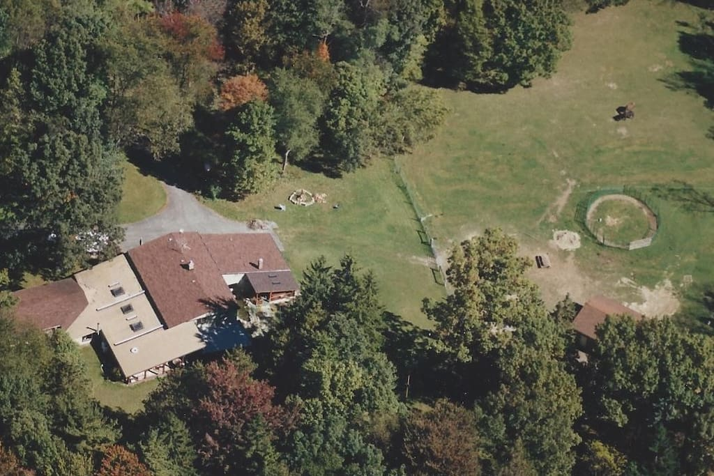 Ariel view of our property a few years back
