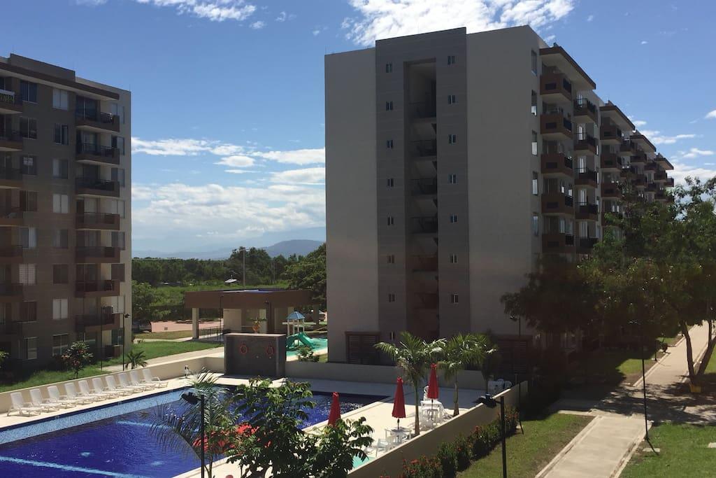 Foto tomada desde el balcón del apto