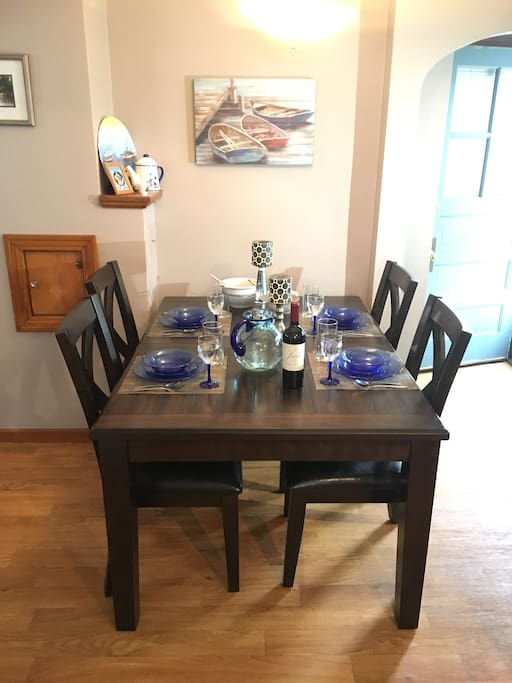 Enjoy a nice meal in our lovely dining room
