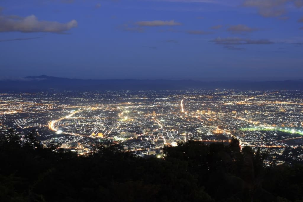 Night City view from Doi Suthep