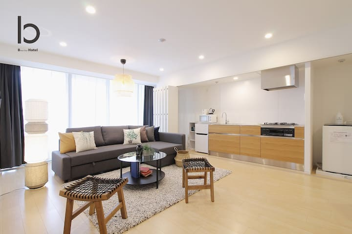 Elegant 2Bedroom Apt 1min to Peace Park 6ppl 201