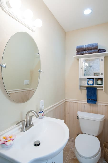 Private newly remodeled bathroom.