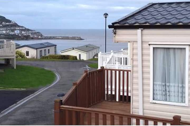 Caravan holiday with stunning sea views.