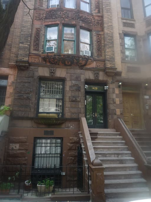 """This 1870's Landmark brownstone is across street from Morris Jumel Museum and Park, 2 minute walk to """"C"""" Subway."""