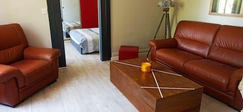 * Appartement rez de chaussée Frontière Suisse *