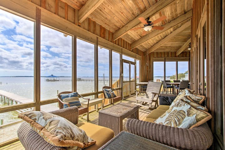 Waterfront Home on Perdido Bay: Private Dock, View