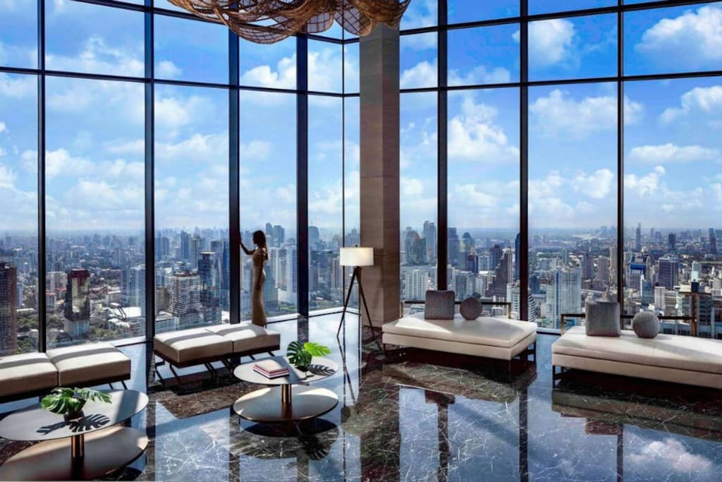 Sky Lounge on 52nd floor. Who need to go to a Sky Bar one this one is one of the highest on?