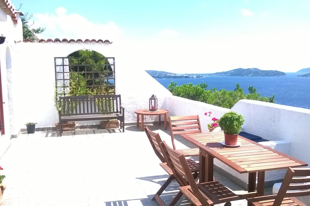 Spacious terrace with fantastic views