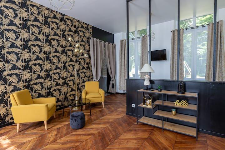 Appartement-Suite-Salle de bain et douche-Terrasse