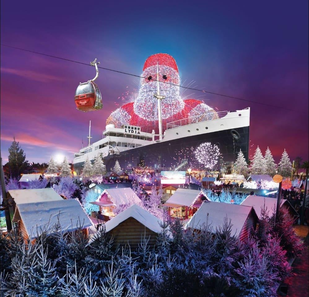 Village de Noël à le Barcarès au Lydia.