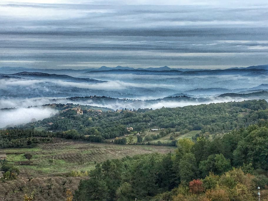 Foggy Autumn morning in the valley below our house