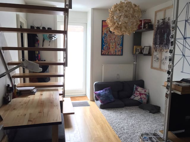 A cozy little 2floor apartment near Christiania.