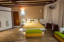 Bed and lounge area