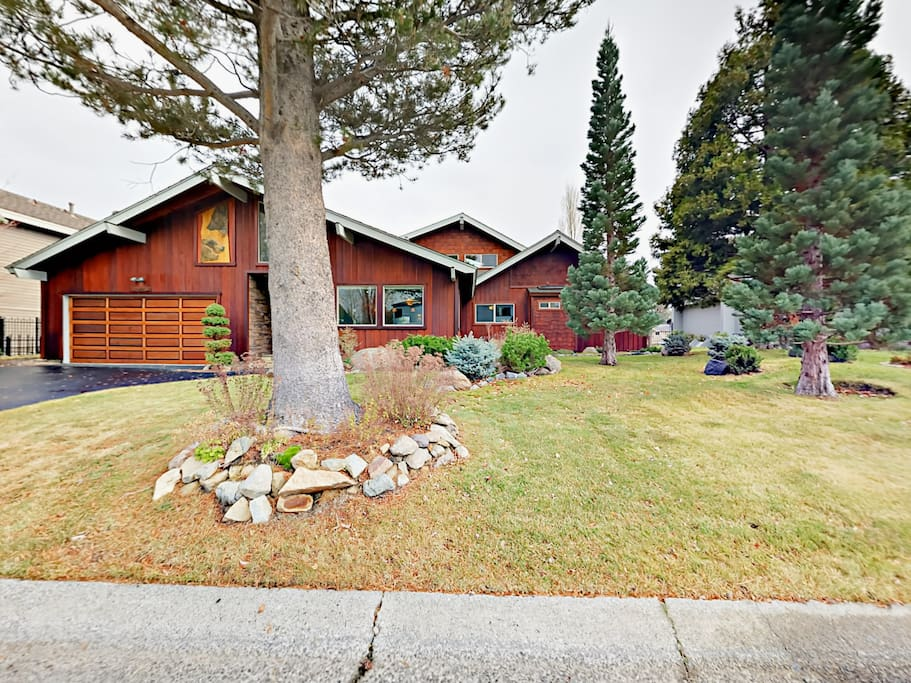 This large family home is situated in a tranquil neighborhood setting.