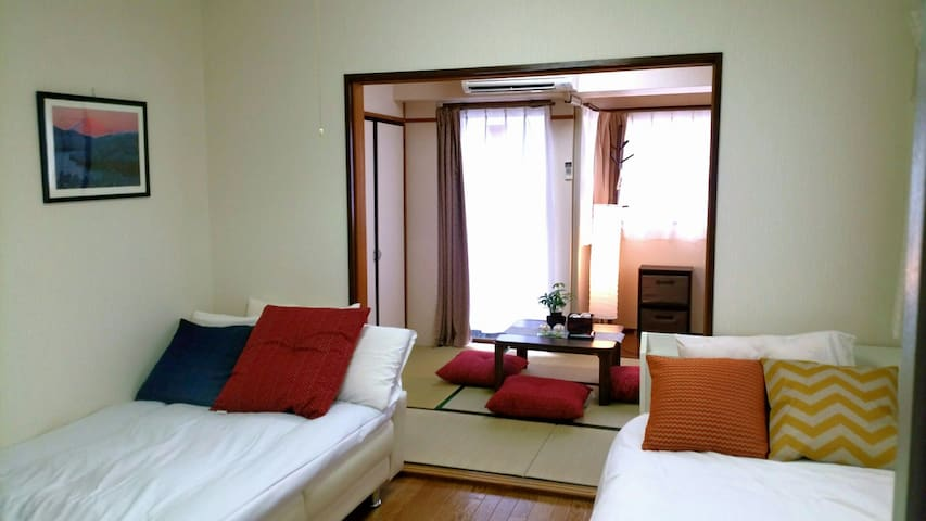 Tatami room and bed room