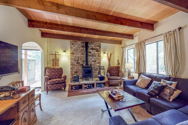 Comfortable home in the woods w/ mtn views, easy access to town, lake, & slopes!