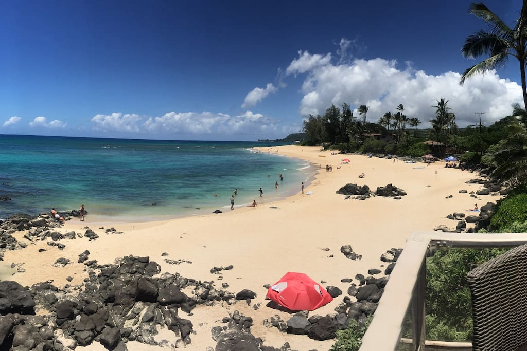 View of Chuns Reef from Main House lanai - Summer