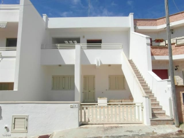 Apartment Just a Few Meters from the Beach with Air Conditioning & Balcony; Parking Available