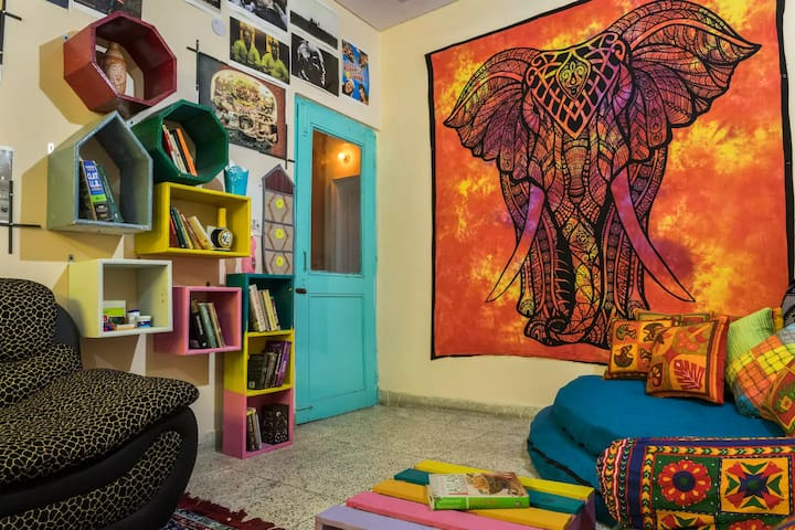 Bohemian Decor Entire Floor with 2 Bedrooms & Roof