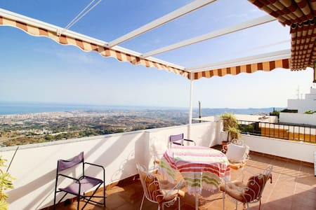 Spanish Village Home with panoramic sea views - Mijas